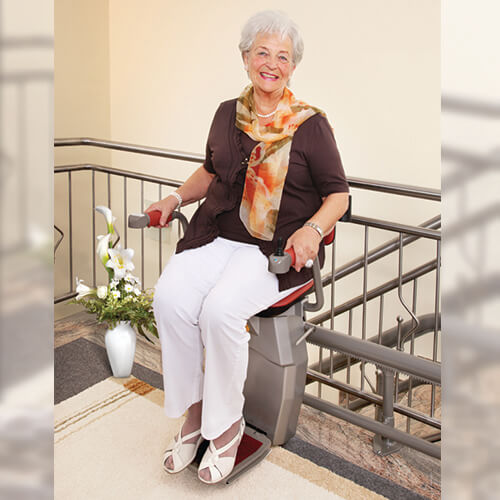 hawle curved stairlift comfortable seat
