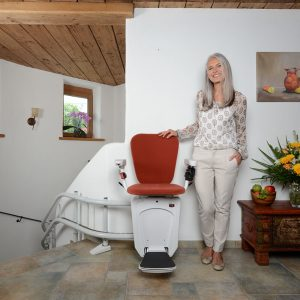 alfa curved stairlift red