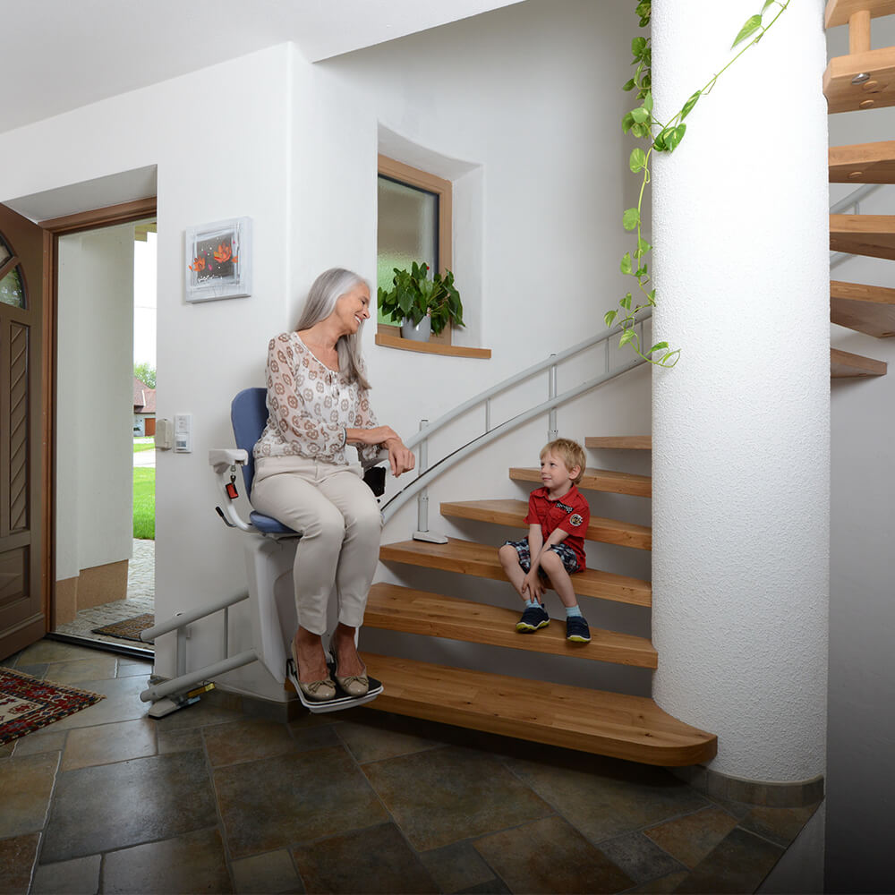 alfa curved stairlift